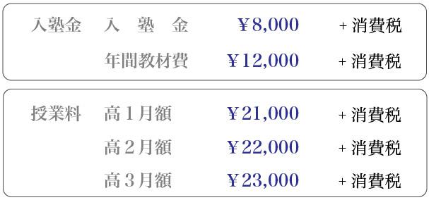 考和塾入塾金・授業料